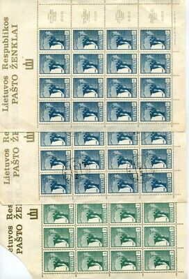 Lithuania Lietuva 1990 first stamps of new republic sheets MNH