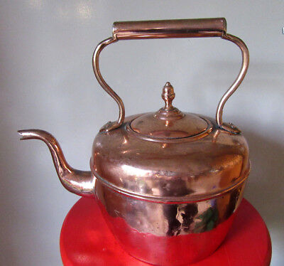 Antique Victorian Maurice Cohen & Co Copper Tea Kettle 19th Century