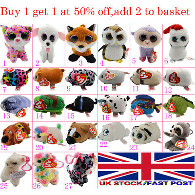 Teeny TY Beanie 6cm Mini Plush Stackable Teddy New with Tags Full Soft Toy Gift