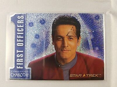 Star Trek Celebrating 40 Years, FIRST OFFICERS COMMANDER CHAKOTAY N5 Odds 1:40