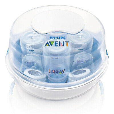 Avent Steam Steriliser Microwave Kit Feeding Bottle Cleanser Natural Steam