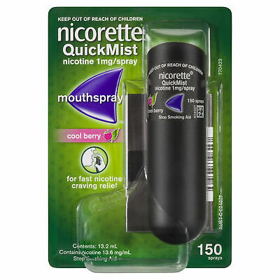 Nicorette Quick Mist Mouthspray Cool Berry 150 Sprays