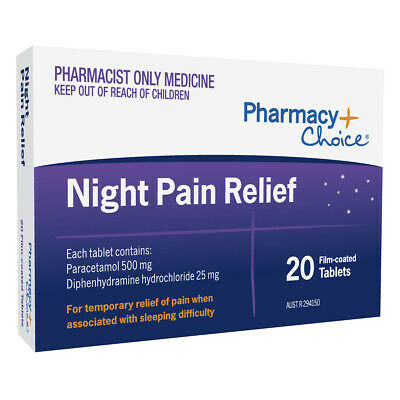 Pharmacy Choice Night Temporary Pain Relief 20 Tablets Medicine