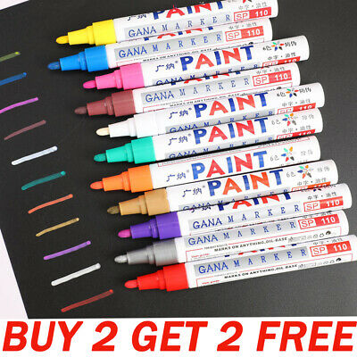 12 Colours Marker Pens Fine Paint Oil Based Art Paint Pen Metal Glass Waterproof