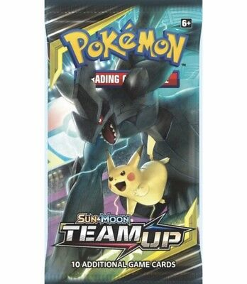 2 x Pokemon Team Up Sun & Moon Factory Sealed Sleeved Booster Packs