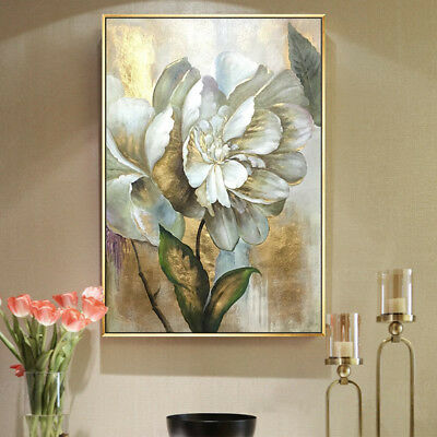YA1078 Modern 100% Hand-painted Abstract oil painting on canvas Flower Peony