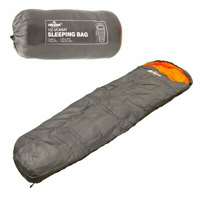 Milestone Camping Mummy Sleeping Bag Season 2  Grey & Orange