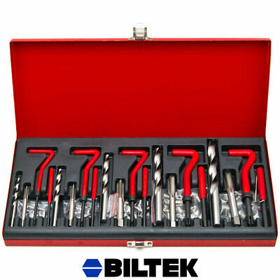 131pc Restore Damaged Thread Repair Tool Helicoil Drill & Tap Insertion Tool Kit