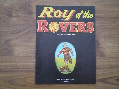 Roy of the Rovers, 20thMarch 1993.The Final Whistle?