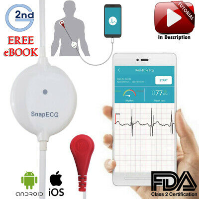 2nd Gen Mini Portable wearable ECG Holter monitor Real-time Arrhythmia detection
