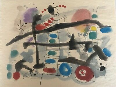 MIRO - ORIGINAL PAINTING/DRAWING, signed Miro, EXC PAPERS, JUST A FEW MIRO LEFT!