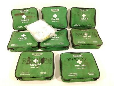 8x Ex Army First Aid Kit JOB LOT Vehicle Emergency Exp 10/2018