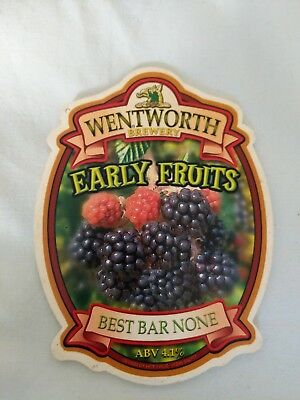 beer pump clip badge - Wentworth Brewery Rotherham Early Fruits ale