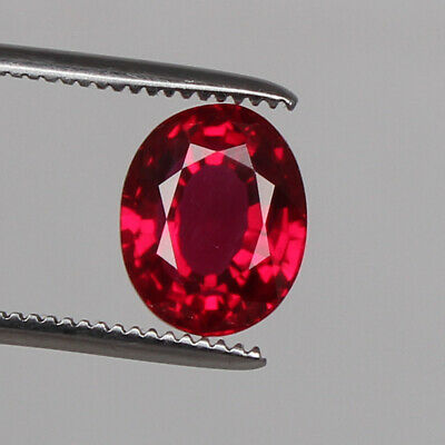Natural Mozambique Red Ruby Top Quality 6.80 Ct. Oval Cut Loose Certified Gem