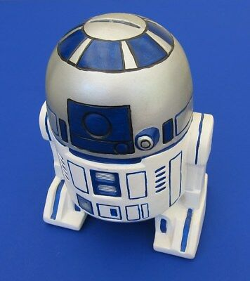 1970s-1980s STAR WARS R2D2 CERAMIC PIGGY COIN BANK **HAND PAINTED**RARE**