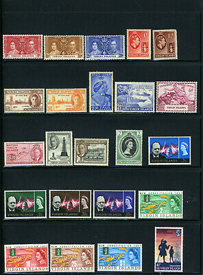British Virgin Islands 50 stamps - Mini collection, mint, 1937 to 1996, 13 sets