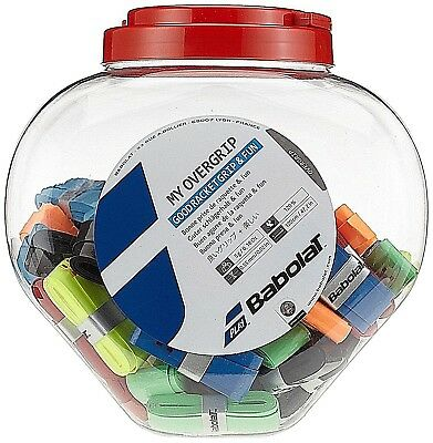 Babolat My Overgrip Jar x 70 Count Tennis Grips Assorted Colors