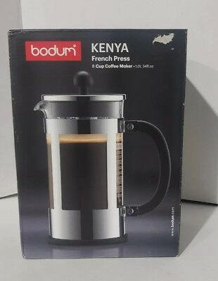 Bodum Kenya 8 Cup French Press Coffee Maker 34 Ounce Stainless