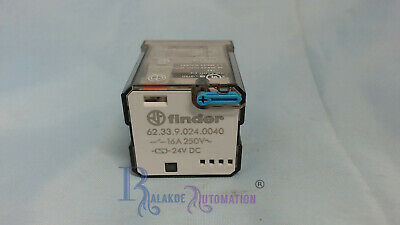 Finder - 62.33.9.024.0040 - Non-Latching Relay Plug In - 24V dc Coil - 16A