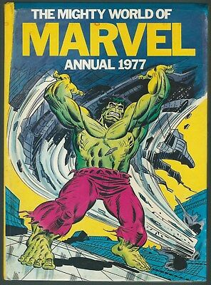 The Mighty World Of Marvel Annual 1977 World Distributors (Manchester) Ltd G+