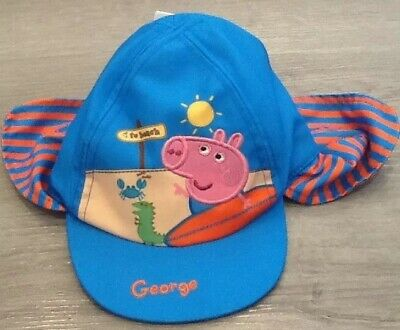 5393dba8 Mothercare Baby Boys George Peppa Pig Sun Hat Age 3-6 Months New With Tags