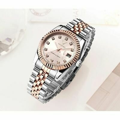 Ladies Watch Rose Gold Silver Women Woman Smart Watches Two Tone Present UK