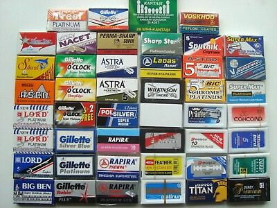 Create Mix Sample Pack Shaving Double Edge Safety DE Razor Blades Rasierklingen*