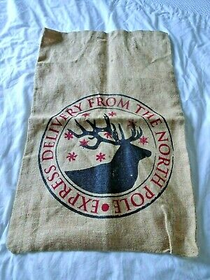 Hessian Sack Express Delivery From The North Pole Christmas Stocking