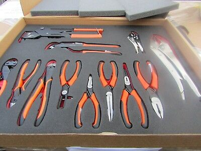 Bahco 12 piece Maintenance Tool Kit Mixed Pliers Etc Modular Foam 05CB 8987403