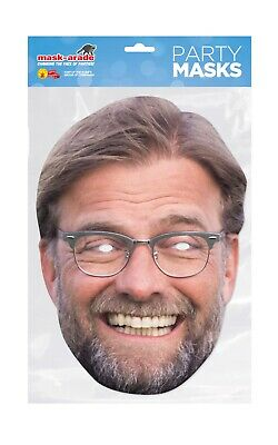 Jurgen Klopp Face Party Mask Card A4 Fancy Dress Sport Football Ladies Mens Kids