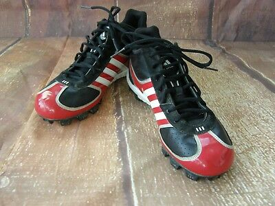 best website 48312 5e372 ADIDAS MENS BASEBALL CLEATS SPG 753001 SIZE 9.5 BlackRedWhite