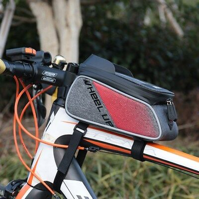 Bike Bicycle Frame Bag Cycling Top Tube Bag Pouch Iphone Plus Holder IB-TB4 10-1