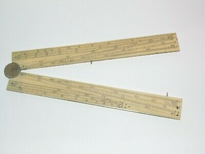 WELL MADE ANTIQUE 1800's FOLDING SECTOR RULE RULER ETUI SCIENTIFIC DRAWING SET