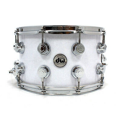 """DW Snare 14"""" x 8"""" FP-White Glass"""