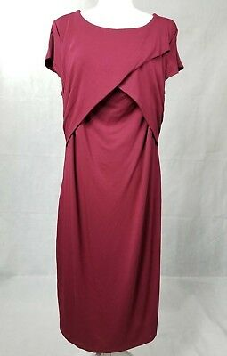 2e1a0f289b8 Pip   Vine by Rosie Pope Red Maternity Nursing Dress - Size Large NEW