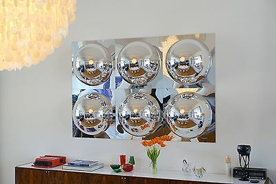 'Bubble one' SET 6 Panel Mirror Wall Panel XL Neu B-WARE 40 % Discount #8