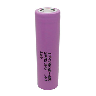 High Drain 18650 Li-ion Battery 30Q 3000mAh Flat Top Rechargeable For Power Bank