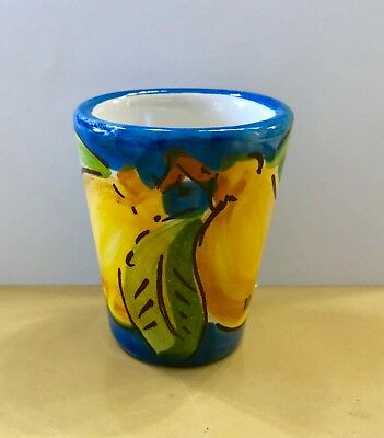 Vietri pottery-Limoncello/shot glasses.Made/painted by hand-Italy