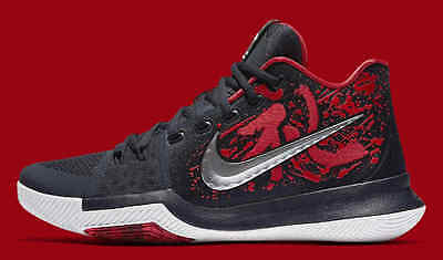 check out 57d1c 3b033 Nike Kyrie 3 Samurai Christmas Mystery Release QS Size 10. 852395-900 Black  Red