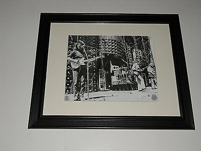 "Framed Grateful Dead Wall of Sound 1974 Jerry + Bob Mini-Poster, 14"" by 17"" RARE"