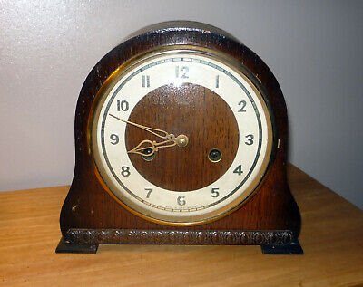 Vintage Smiths Enfield Mantel Clock Made In Great Britain Cillectible