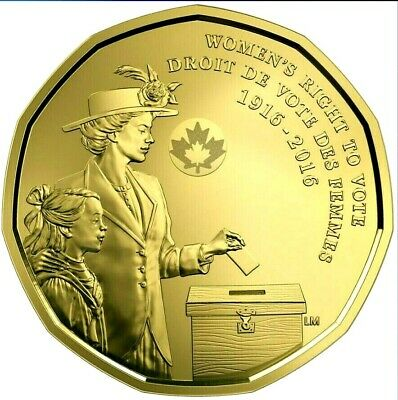 2016 Canada Loonie 1 Dollar GEM UNCIRCULATED Women's Right to Vote GEM BU!
