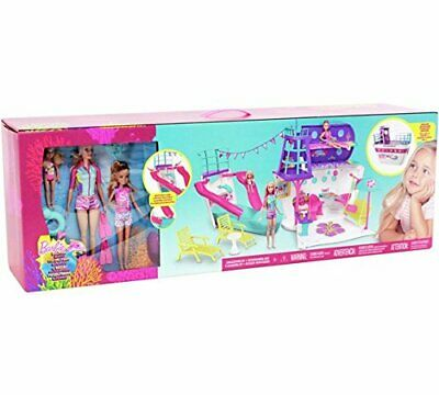 BNIB Barbie Cruise Ship Playset with 3 Dolls and 28 Accessories