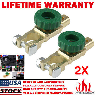 2x Car Battery Cut Off Switch Terminal Link Disconnect Master Quick Shut
