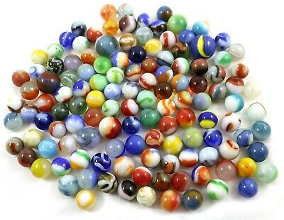 Lot of 125 Variety Machine Made Toy Marbles Good to Near Mint Approx. 1.5lbs.