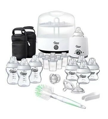 New Tommee Tippee Closer To Nature Complete Feeding Set Kit Steriliser Bottles