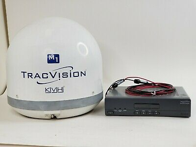 KVH TracVision M1 Satellite Antenna System FOR PARTS OR REPAIR Working Satellite