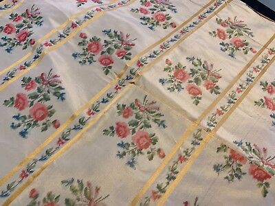 """Antique French Watersilk Fabric 16"""" by 16"""" Perfect Condition FREE SHIP"""