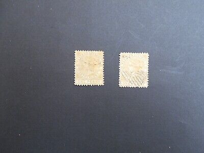 Western Australia QV 2 x 1d Telegraph stamps used.