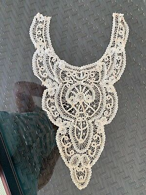 """Antique Belgium Bobbin Lace Perfect Collector 9"""" by 16"""" Ivory Color Princess"""